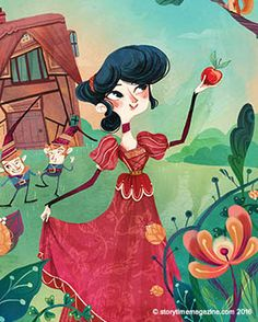Snow White – the star of Storytime Issue 16. Illustration by Flavia Sorrentino (http://flaviasorrentino.blogspot.co.uk) ~ STORYTIMEMAGAZINE.COM