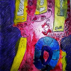 Mixed Media Drawing and Printmaking. Working with colours, textures and shapes. www.bravaartpress.com