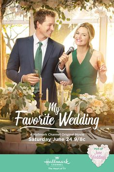 "Its a Wonderful Movie - Your Guide to Family and Christmas Movies on TV: Paul Greene and Maggie Lawson star in ""My Favorite Wedding"" -- a Hallmark Channel Original ""June Wedding"" Movie! Hallmark Channel, Películas Hallmark, Films Hallmark, Family Christmas Movies, Hallmark Christmas Movies, Family Movies, Holiday Movies, Christmas Christmas, Christmas Wedding"