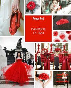 poppy red wedding ideas