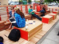 Awesome Modular Public Lounge Takes Over Vancouver's Parking Spaces #sustainable