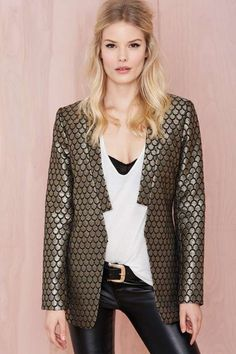 Luxe Life Blazer - Jackets + Coats