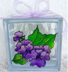 Pansy Glass Block E-Packet - Wendy Fahey