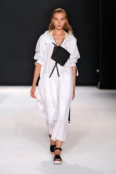 Instead of wearing your crossbody down by your hips, consider wearing it in front of you like chest armor. Your pickpocket-fearing parents will approve. rag & bone