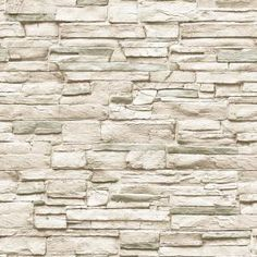Tempaper Light Stone Ivory Peel and Stick Wallpaper 56 sq. Silver Wallpaper, Wood Wallpaper, Wallpaper Samples, Peel And Stick Wallpaper, Hall Wallpaper, Wallpaper Ideas, Faux Brick, Faux Stone, Textured Walls