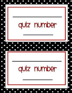 printable to write AR quiz numbers for books that have been read to the whole class.
