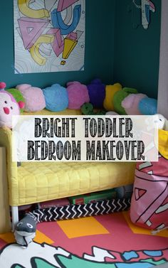 Check out my before/after for my toddler's bright bedroom makeover with loads of IKEA!