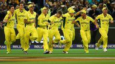 Cricket World Cup final 2015: Australia beat New Zealand    29 MAR 2015 ICC WORLD CUP Aus - First innings 186 - for 3 wickets  NZ - First innings 183 all out Australia won by 7 wickets.