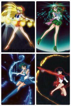 Venus Love and Beauty Shock Jupiter Oak Evolution Mercury Aqua Rhapsody Mars Flame Sniper Sailor Moon Crystal, Sailor Moon Fond, Arte Sailor Moon, Sailor Moon Stars, Sailor Moon Manga, Sailor Uranus, Disney Marvel, Sailor Moon Personajes, Imagenes Betty Boop