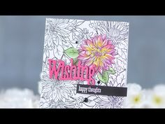 Stamp Away With Me: Beautiful Bouquet:  Mums. Wplus9. Guest designer video