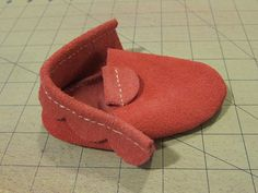 Leather Babymoccasin - free pattern and  tutorial step by step - Bildanleitung
