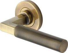 Coming Soon - Heritage Brass Knurled lever door handles on round rose, solid brass, available in seven finishes, by M. Taken from the classic Bauhaus design which has had the knurl texture added to the lever. Lever Door Handles, Brass Door Handles, Modern Door Handles, Bauhaus Design, Door Furniture, Solid Brass, Antique Brass, Hardware, Doors