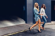 "naimabarcelona:  Elle & Tash ""blue premenade"""