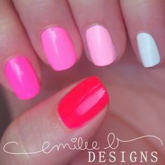 Nailpolis Museum of Nail Art | Neon Pink Ombre by Emilee