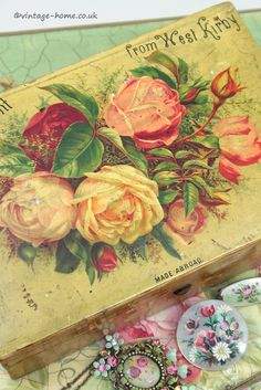 Vintage Home Shop - Pretty Victorian Souvenir Roses Box: www.vintage-home.co.uk
