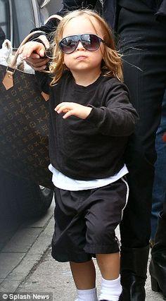 Knox Jolie Pitt stylin' and profilin'