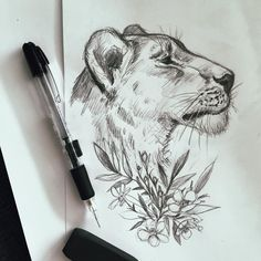 Lion tattoo design - essi tattoo #lion #pencil #sketch #drawing #tattoodesign #tattooart #illustration #art #instaartist