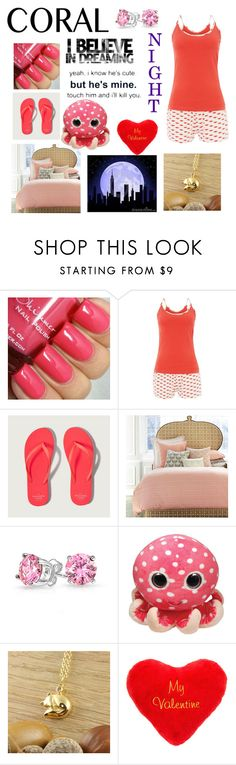"""Coral Sleep"" by dreamer2911 on Polyvore featuring Tommy Hilfiger, Abercrombie & Fitch, John Robshaw, Bling Jewelry, claire's, women's clothing, women, female, woman and misses"
