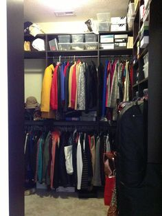 After: California Closets helped this homeowner maximize their closet space.