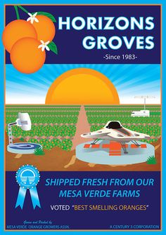 Horizons Groves Poster - Take a trip back to the Orange Groves of Mesa Verde and smell the Oranges. Celebrate 30 years since Horizons opened at Epcot Center in 1983. #horizons #epcot #epcotcenter #mesaverde #retroepcot #groves #horizonsgroves