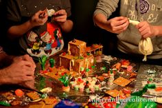 Gingerbread House Building Contest! Have friends over with their families- all get the same supplies. At the end give every family slips of paper with 1 through 5 on them. You all rate each others' houses by placing a number by each house. (you can't give your own house a 5) Add up the numbers to see who wins a prize.