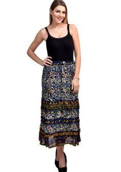 Fashozz Blue Cotton Printed Skirt Buy Skirts Online, Lace Skirt, Sequin Skirt, Weird Fashion, Fashion Deals, Western Wear, Printed Skirts, Ethnic, Feminine