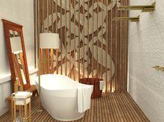 Banheiro de Estar - Casa Cor 2015  Arquiteta Paula Neder