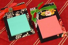 Fabric Post-it Note Holder Tutorial