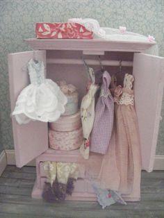 Dolls house filled wardrobe by juliedeighton on Etsy, $115.00