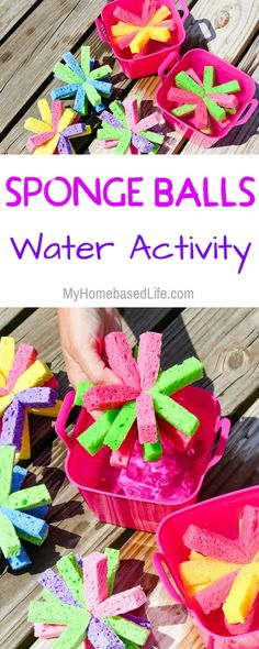 Summer Water Games just got more exciting! Sponge Soaker Balls are the perfect kid's summer DIY. Super simple and guaranteed a great time. #kids #summer #wateractivity #KidsDIY #Summertime | Kids DIY | Kids Craft | Simple Kids Water Activity | Parenting | Summertime Fun | Family Fun | Easy Water Activity via @myhomebasedlife