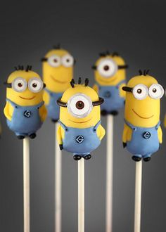 Minion Cake Pops by Bakerella - detailed instructions on how to create these adorable dudes just in time for the new movie