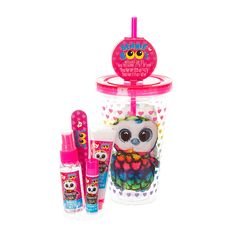<P>This tumblr from TY Beanies is the perfect gift because not only does it feature our favorite Owl, Aria it's filled with lots of cosmetic goodies!</P><UL><LI>Insulated cup <LI>Includes: Strawberry sugar hand lotion, lip balm, body mist and nail file <LI>Total Net WT 0.15oz/4.2g</LI></UL>