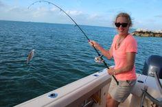 Fishing in my pearls. Elbow Cay Bahamas!