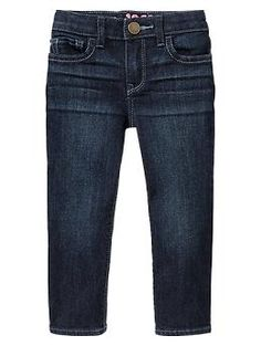 Viv could use some more jeans.  It doesn't necessarily need to be these, but she does best with skinny jeans, and this kind has an adjustable waist, which is good for her.  4T (as of Nov. 2013)