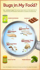 Find out why you're consuming insects, and in which foods!
