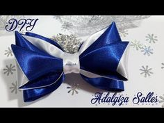 DIY - Laço para Natal e Ano Novo - passo a passo por Adalgiza Salles - YouTube