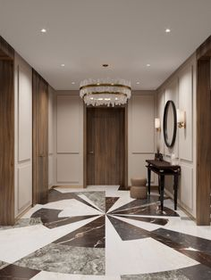 Aiya Design - Хамовники Lounge Design, Floor Design, Ceiling Design, Wall Design, Neoclassical Interior Design, Hall Tiles, Entryway Flooring, Wardrobe Door Designs, Unique Flooring