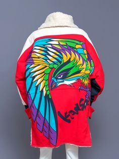 Kansai Yamamoto (山本寛斎) dolman sleeve bird graphic jacket, 1980s.