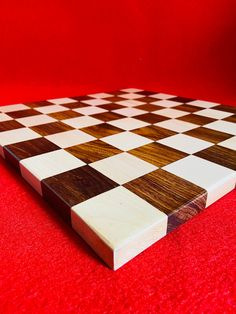"12"" x 12"" Inch Indian Handmade Wooden End Grain Borderless Chess Board Both Side Play Professional Flat Chess Game Board Set. Christmas Gift"