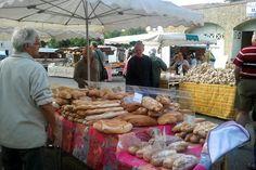 French breads at the Tournon market