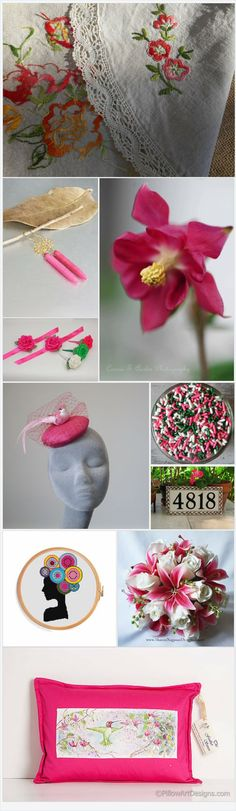 Pink, White, & Green by CatLady30 on Etsy