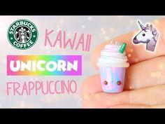 Kawaii Unicorn Frappuccino polymer clay tutorial