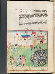 Bern, Burgerbibliothek, Mss.h.h.I.1, f. 260 – Diebold Schilling, Amtliche Berner Chronik, vol. 1