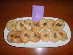 galletas de mantequilla con flores