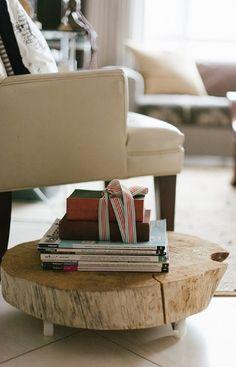 knutselen voor volwassenen | een bijzettafeltje van hout Door ilkavanderburgt