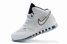 74690d026b58 Nike Air Max LeBron VIII (8) Shoes White Black Blue