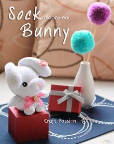 Stuffed Sock Bunny Rabbit Droopy Ear Toys DIY Craft Project