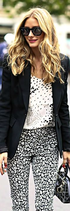 Olivia Palermo Black & White Look