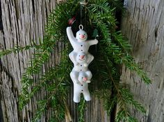 Vintage Dansk Christmas Ornament Snowman by TheInspiredTrader