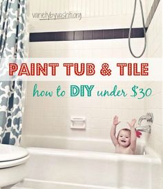 how i painted our bath tub tile u0026 floor diy under 30